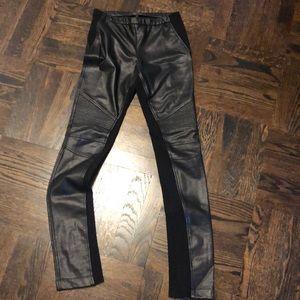 BCBG elastic leather jeggings